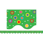 Creative Teaching Press™ Toddler - 12th Grades Scalloped Border, Dots on Green