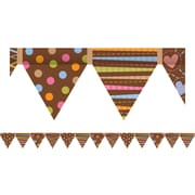 Creative Teaching Press™ Toddler - 12th Grades Pennant Border, Dots on Chocolate®