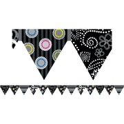 Creative Teaching Press™ Toddler - 12th Grades Pennant Border, Black and White Collection