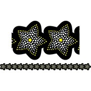 "Creative Teaching Press BW Collection CTP7148 35' x 2.75"" Sparkling Stars Borders, Black/White"