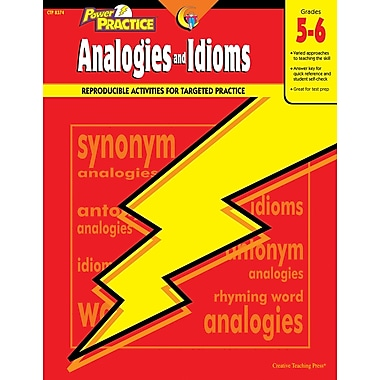 Creative Teaching Press™ Power Practice Analogies and Idioms Book, Grades 5th - 6th