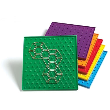 Learning Advantage™ 9in. Double Sided Geoboard, Grades Kindergarten+