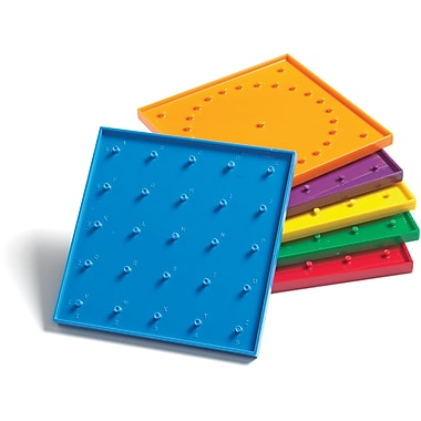 Learning Advantage™ 6in. Double Sided Geoboard, Grades Kindergarten+