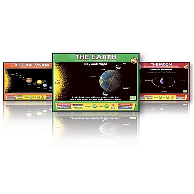 Daydream Education Science Solar System Set Whiteboard Chart CD, Grades Pre Kindergarten