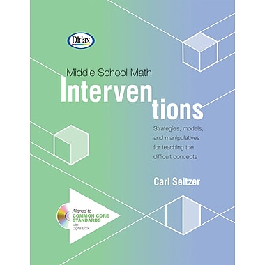 Didax® Middle School Math Interventions Book and CD, Grades 5th - 9th