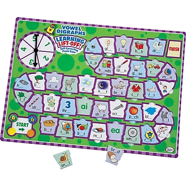 Didax® Learning Lift Off Vowel Digraph Game, Grades 1st - 3rd