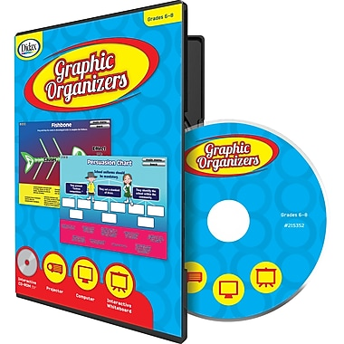 Didax® Graphic Organizers CD, Grades 6th - 8th