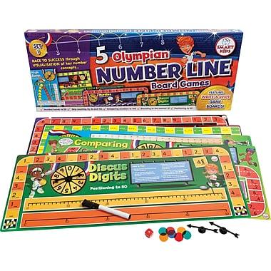 Didax® 5 Olympian Number Line Game, Grades Kindergarten - 1st