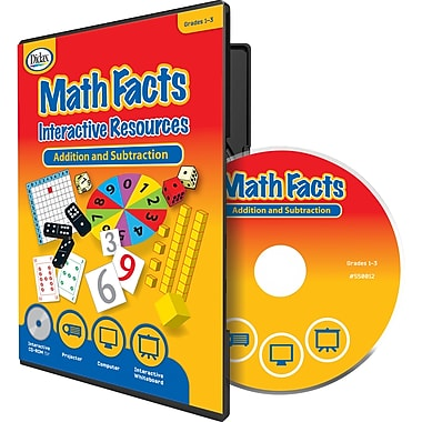 Didax® Math Facts Interactive Resources CD, Grades 1st - 3rd