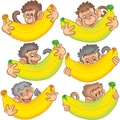 Edupress® Toddler - 6th Grades Bulletin Board Accents, Monkeys With Bananas