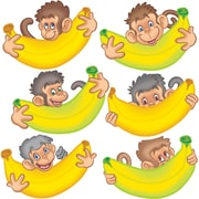 "Edupress EP3197 8"" x 8"" DieCut Monkeys with Bananas Bulletin Board Accents, Multicolor"