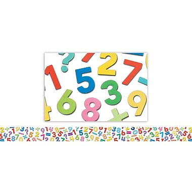 Edupress® Pre School - 8th Grades Straight Photo Border, Numbers