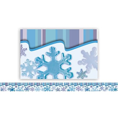 Edupress® Infant- 12th Grades Straight Layered-Look Border, Snow Fun