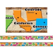 Edupress® 1st - 12th Grades Straight Spotlight Border, 50 States
