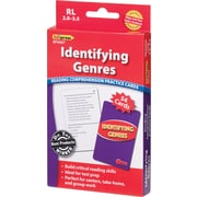 Edupress Identifying Genres Reading Comprehension Practice Cards, Red Level 2.0-3.5, Grades 2nd-5th