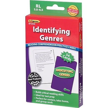 Edupress® Identifying Genres Reading Comprehension Practice Cards, Green Level, Grades 2nd - 5th