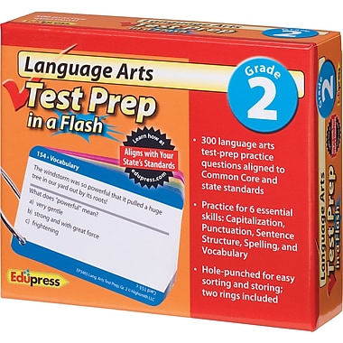 Edupress® Language Arts Test Prep in a Flash™, Grades 2nd