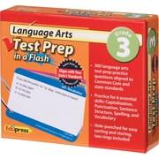 Edupress® Language Arts Test Prep Flash™ Cards, Grades 3rd