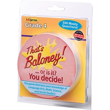 Edupress® That's Baloney Game, Grades 4th