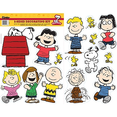 Eureka® Two-Sided Deco Kit, Peanuts Classic Characters