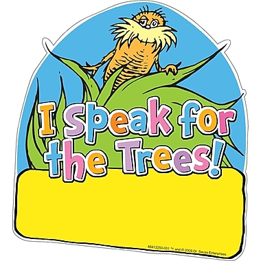 Eureka® The Lorax Project™ Paper Cut-Outs, I Speak For the Trees