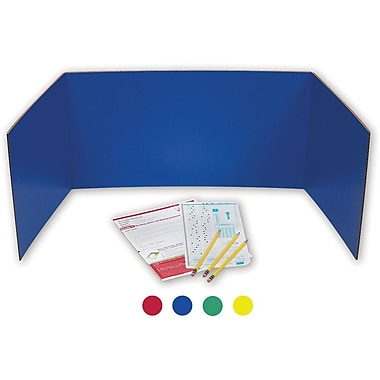 Flipside® Corrugated Study Carrel, Assorted