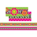 Frog Street® Infant- 12th Grades Straight Double-Sided Border, Zebra Flower
