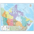 Round World Products Canada Laminated Map, Grades All