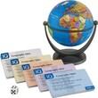 Round World Products IQ Quiz Political Mini Globe, Grades All