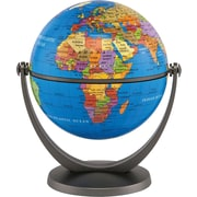 "Round World Products Swivel and Tilt 4"" Blue Ocean Mini Globe, Grades Pre School - 5th"