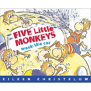 Houghton Mifflin® Five Little Monkeys Wash The Car (Paperback) Book