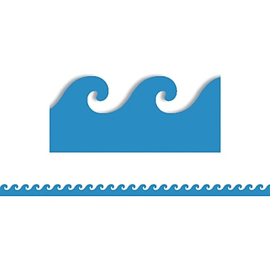 Hygloss® Pre School - 12th Grades Scalloped Classroom Border, Blue Waves
