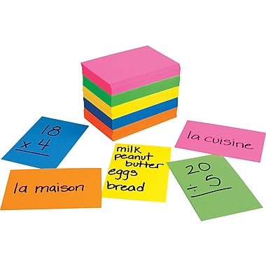 Hygloss® Bright Flash Cards, 2in. x 3in.