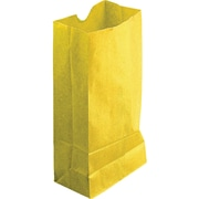 "Hygloss® 11"" x 6"" x 3.5"" Gusseted Bag, Yellow"