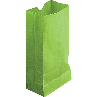 Hygloss® 11in. x 6in. x 3.5in. Gusseted Bag, Lime Green