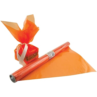Hygloss® 12.5' x 20in. Cello Wrap Roll, Orange