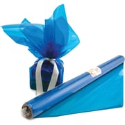 "Hygloss® 12.5' x 20"" Cello Wrap Roll, Blue"