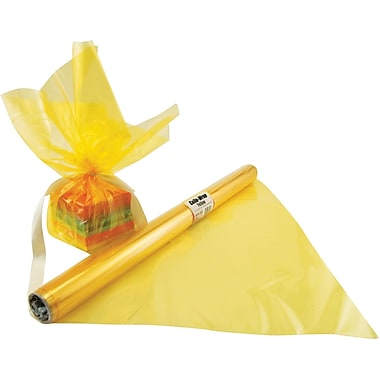 Hygloss® 12.5' x 20in. Cello Wrap Roll, Yellow