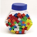 Koplow Games 16 mm Foam Dice Tub Of 200 Assorted Color Spot, Grades Pre School - Kindergarten+