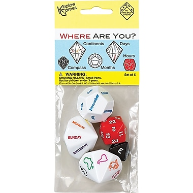 Koplow Games Where Are You Dice, Grades Pre School - Kindergarten+