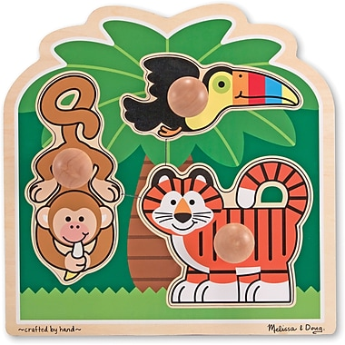 Melissa & Doug® Jumbo Knob Puzzle, Rainforest Friends
