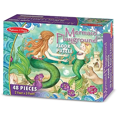 Melissa & Doug® Floor Puzzle, Mermaid Playground