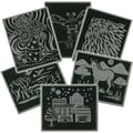 Melissa & Doug® Scratch Art Pattern Paper Assortment, 12/pack