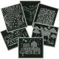 Melissa & Doug® Scratch Art Pattern Paper Assortment, 60/pack