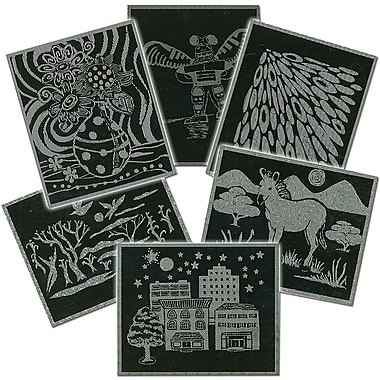 Melissa & Doug® Scratch Art Pattern Paper Assortment, 60/pack