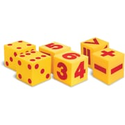 Learning Resources® Giant Soft Cubes - Dot, Numeral and Operations Sets, Grades Preschool - 2nd