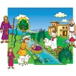 Little Folk Visuals® Bulletin Board Set, Baby Moses