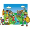 Little Folk Visuals® Bulletin Board Set, David and Goliath