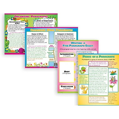 McDonald Publishing® Poster Set, Writing Paragraphs and Essays