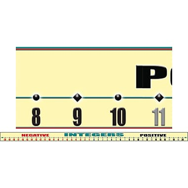 McDonald Publishing McY1550 39in. x 2.25in. Straight Number Line -20 to +20 Brainy Borders, Beige